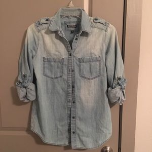 NWOT Express denim button up shirt